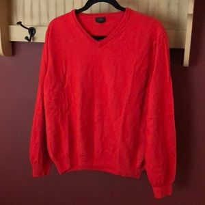 Red Merino Wool Sweater
